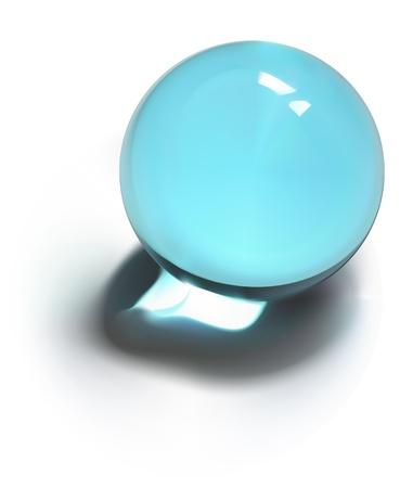 chrome base: Illustrazione vettoriale di Crystal Ball
