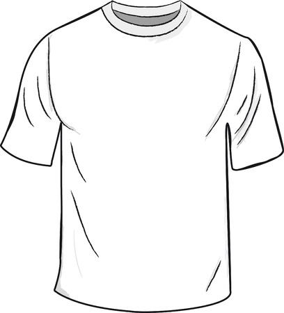 White T-shirt design template Stock Vector - 13872372