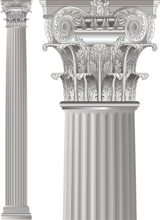 greek column: set classic columns