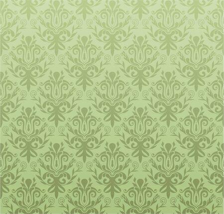 victorian scroll: retro wallpaper