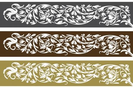 barok ornament: retro behang