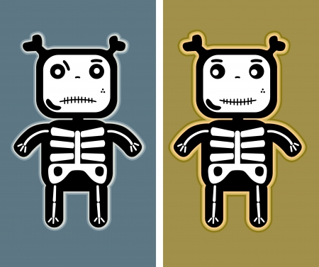 illustration - funny child bones Vector