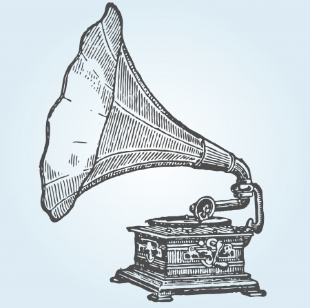 Gramófono retro Foto de archivo - 14234392