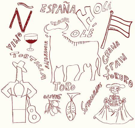 torero: Spanisch Themen Illustration