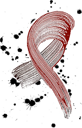 aids: solidarity symbol  Illustration