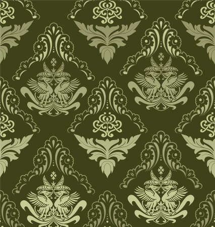scroll shape: retro wallpaper