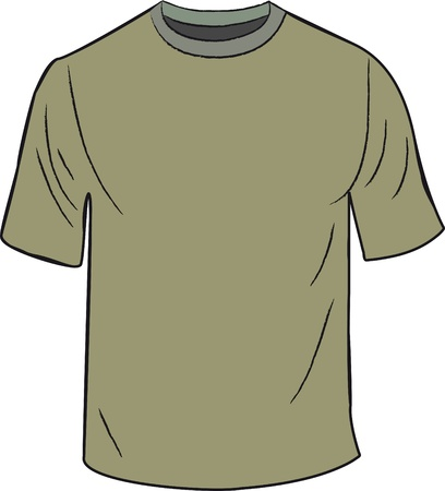 green T-shirt design template Vector