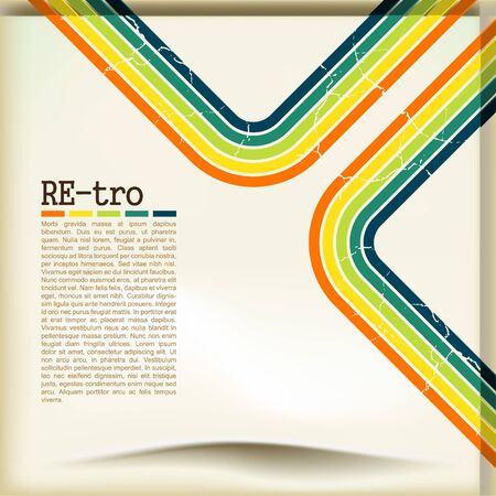paper fold: Retro background