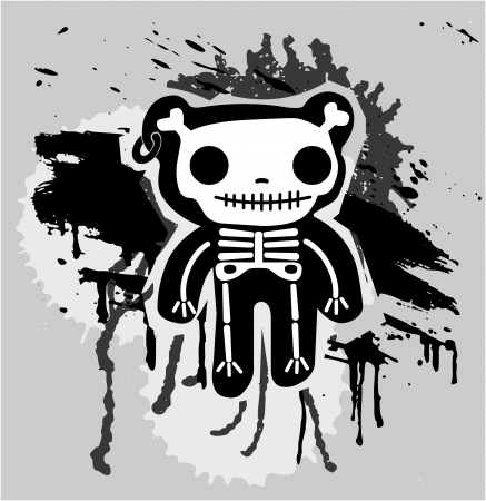 teddy bones  Vector