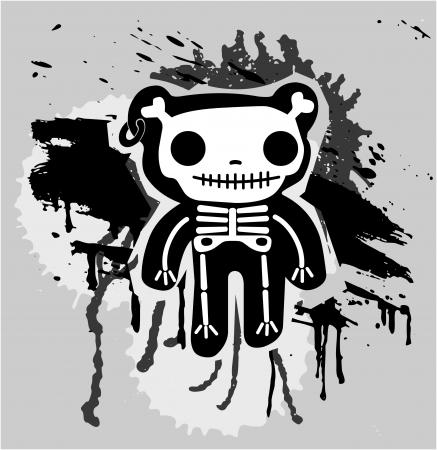 teddy bones  Vector