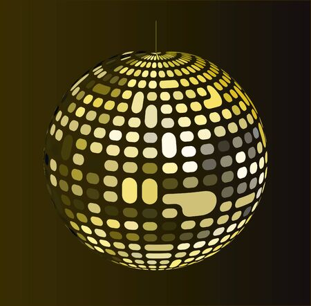 Shiny disco ball Stock Vector - 14419362