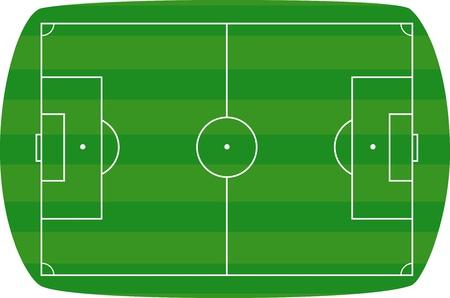 Green football field background. Vector illustration  Stock Vector - 14419357