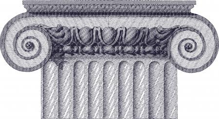 classic column illustration  Vector