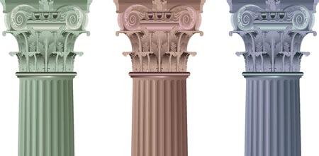 old ruin: set classic columns
