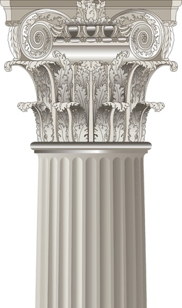 greek column: classical column Illustration