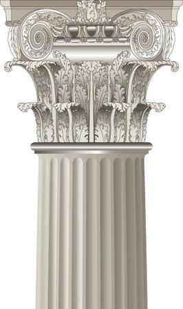 volute: colonna classica Vettoriali