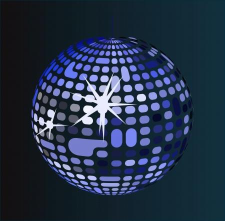 Shiny disco ball Vector