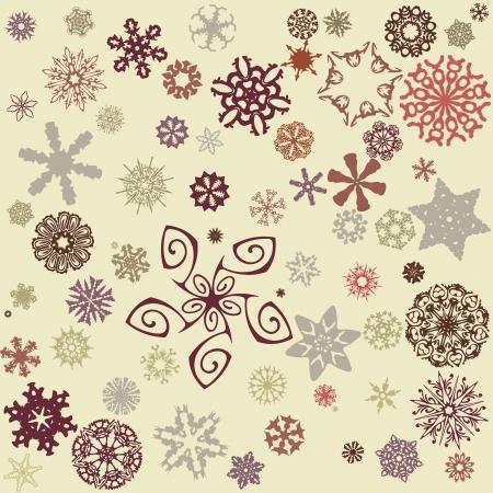 styczeń: tło płatki śniegu Ilustracja