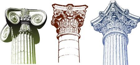 antiquity: classic column set Illustration