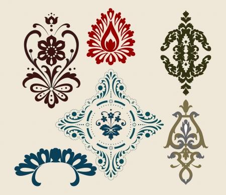 creative logo: retro set