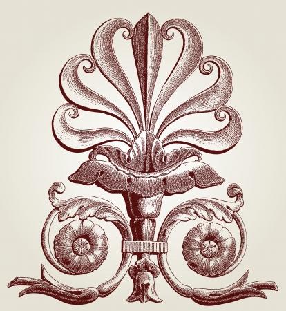 heraldic symbol fleur de lis: fleurs-de-lis (Lis flower)