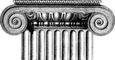 greek statue: Ionic column Illustration