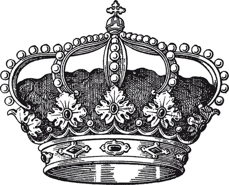 couronne royale: couronne Illustration