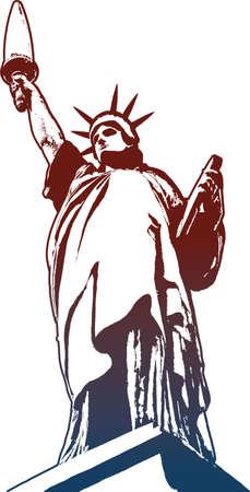 Vector Liberty statue Vector