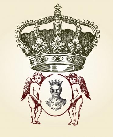 escudo de armas: diseño, ilustración escudo de configurar con diferentes formas y decoración