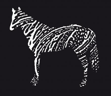 ink splat: horse