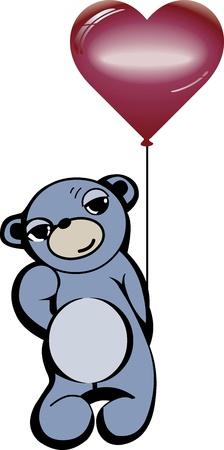 bear with hear Stock Vector - 15313682