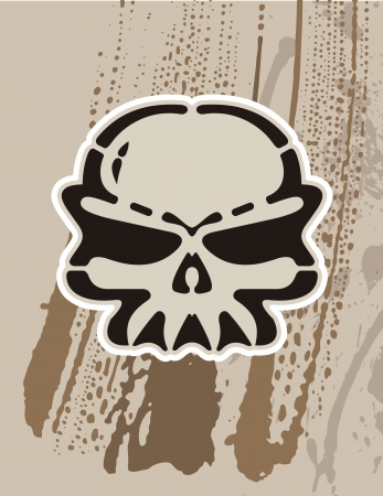 skull in comic style Vector