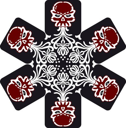 architectonic: skull snowflakes Illustration