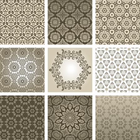arabesque antique: retro background