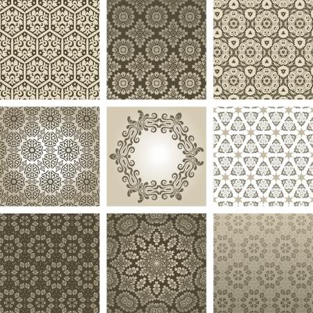 arabesque wallpaper: sfondo retr? Vettoriali