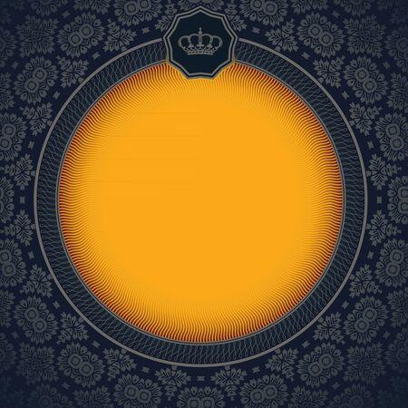 royal frame: Baroque card