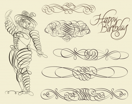 Calligraphic and ornamental designs Vector