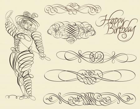 Calligraphic and ornamental designs Vector