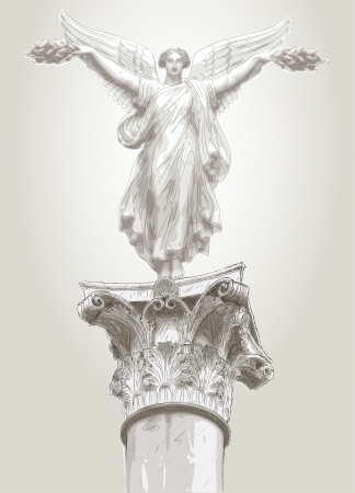 diosa griega: musa de la estatua Vectores