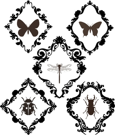 old frames Vector