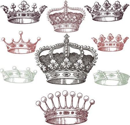 corona reina: Adornos