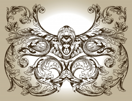 baroque room: Design ornament