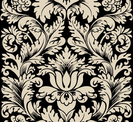 damask: Damask semless silk Illustration