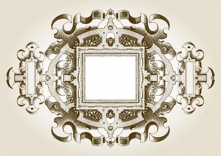 gilded: Retro frame Illustration