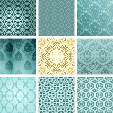Retro backgrounds set Stock Vector - 20014517