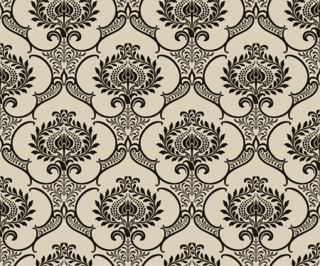 a glamour: Damask wallpaper