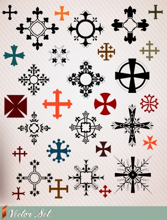 iron cross: crosses set Illustration