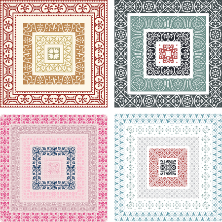 baroque frame: Retro lines set