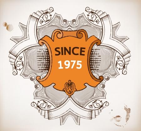 ephemera: Vector Vintage emblema