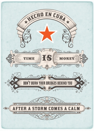 vintage: Labels set  Vector